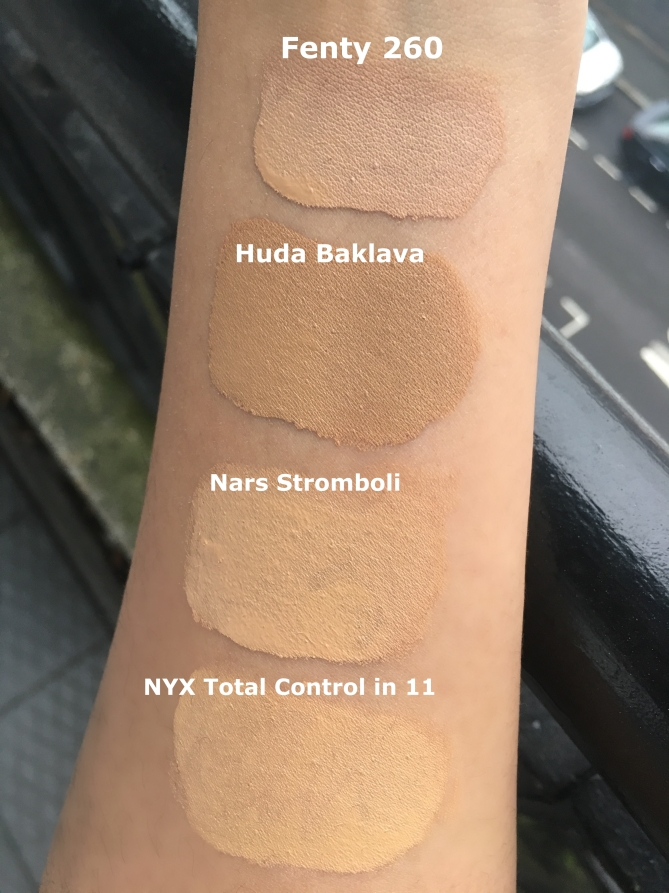Foundation Swatches NC35